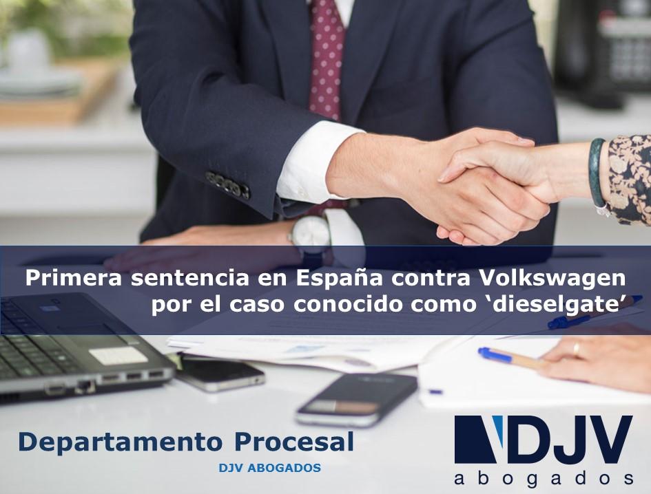 Primera Sentencia En España Contra Volkswagen Por El Caso Conocido Como 'dieselgate'