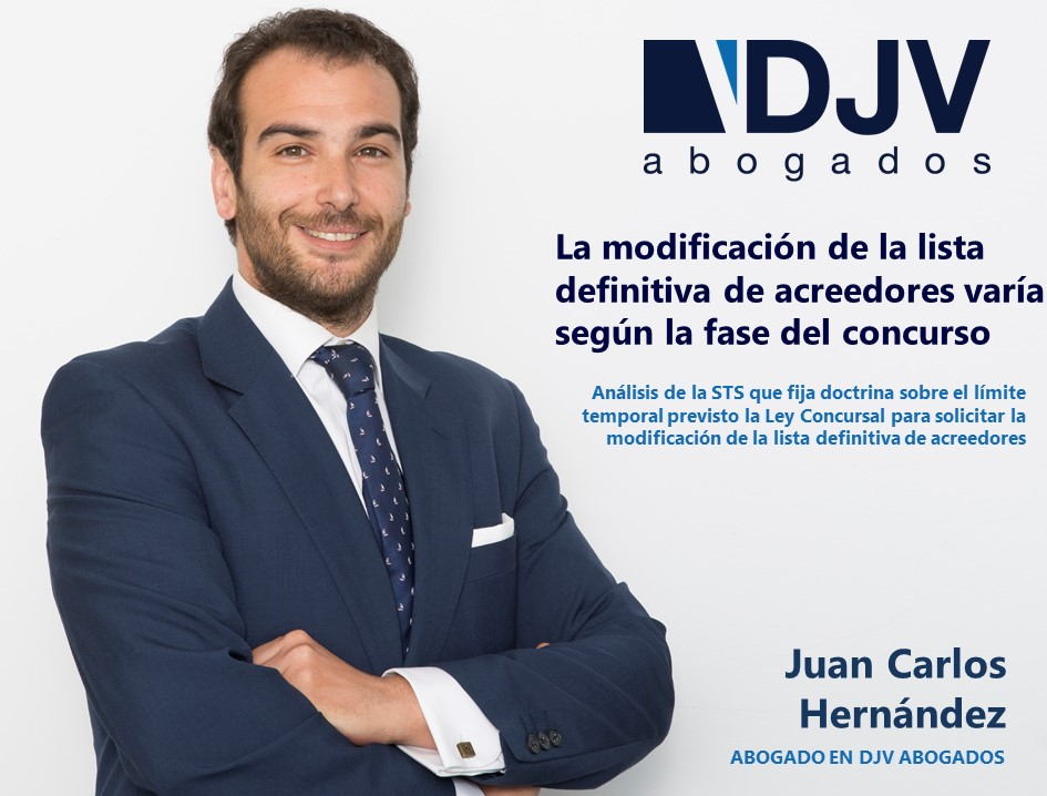 Juan Carlos Hernandez Modificacion Lista Acreedores