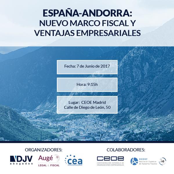 """DJV Abogados Organiza El Desayuno: """"España-Andorra: Nuevo Marco Fiscal Y Ventajas Empresariales"""""""