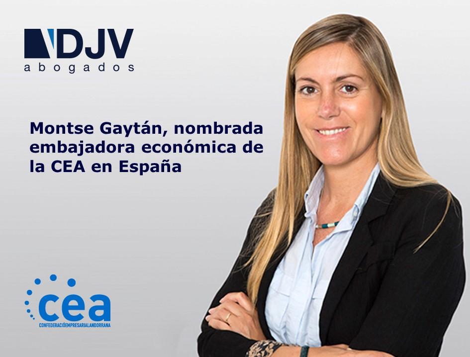 Montse Gaytán, Nombrada Embajadora Económica De La CEA En España