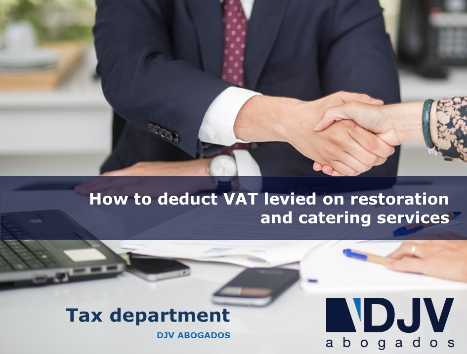 How To Deduct VAT Levied On Restoration And Catering Services