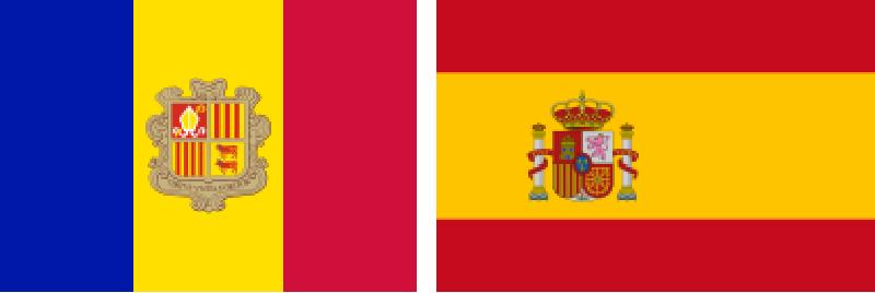 bandera de andorra y bandera de españa
