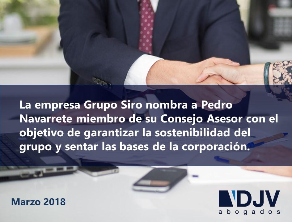 Pedro Navarrete, Nuevo Miembro Del Consejo Asesor Del Grupo Siro