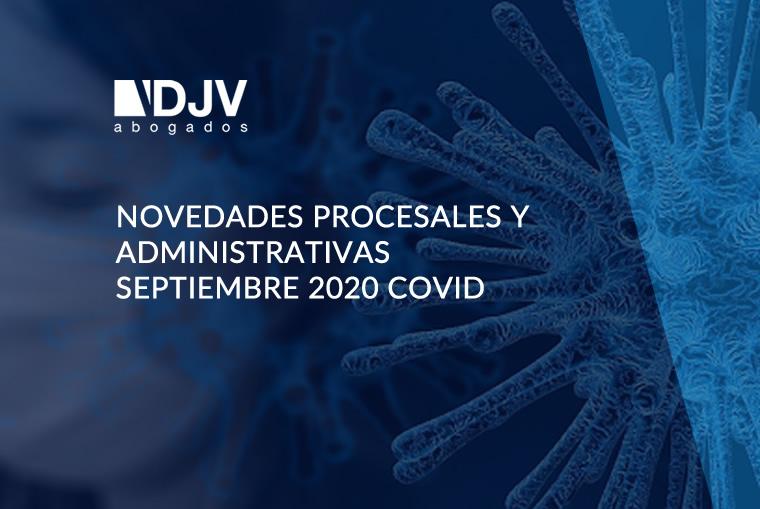 Novedades Procesales Y Administrativas Septiembre 2020 COVID